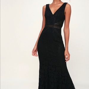 Lulu's Black Lace Dress
